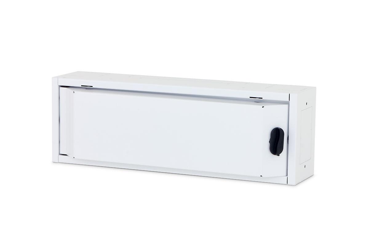 1 Stk Elektro Heimverteiler, 1-reihig, 22TE, 500x166x110mm,RAL9003 DW4HE122--