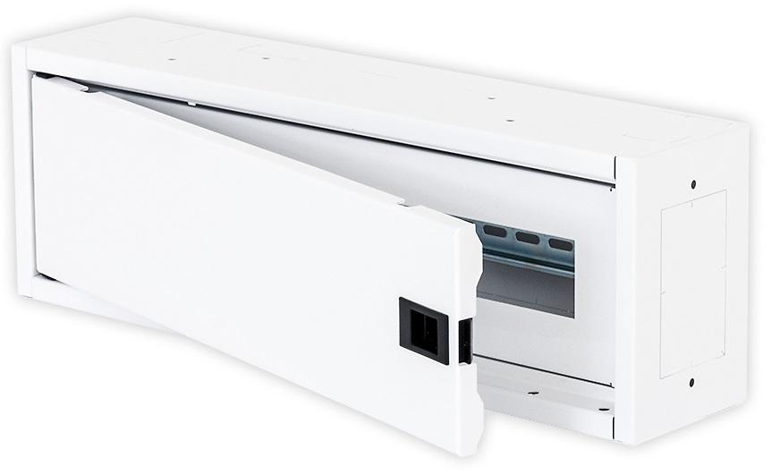 1 Stk Elektro Heimverteiler, 1-reihig, 22TE, 500x166x110mm,RAL9003 DW4HE122F-