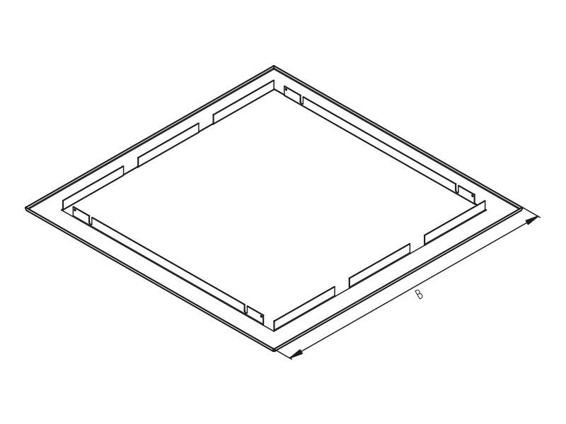 1 Stk Unterputz Kombinationsrahmen für Heimverteiler 6, RAL9003 DW4HR6----