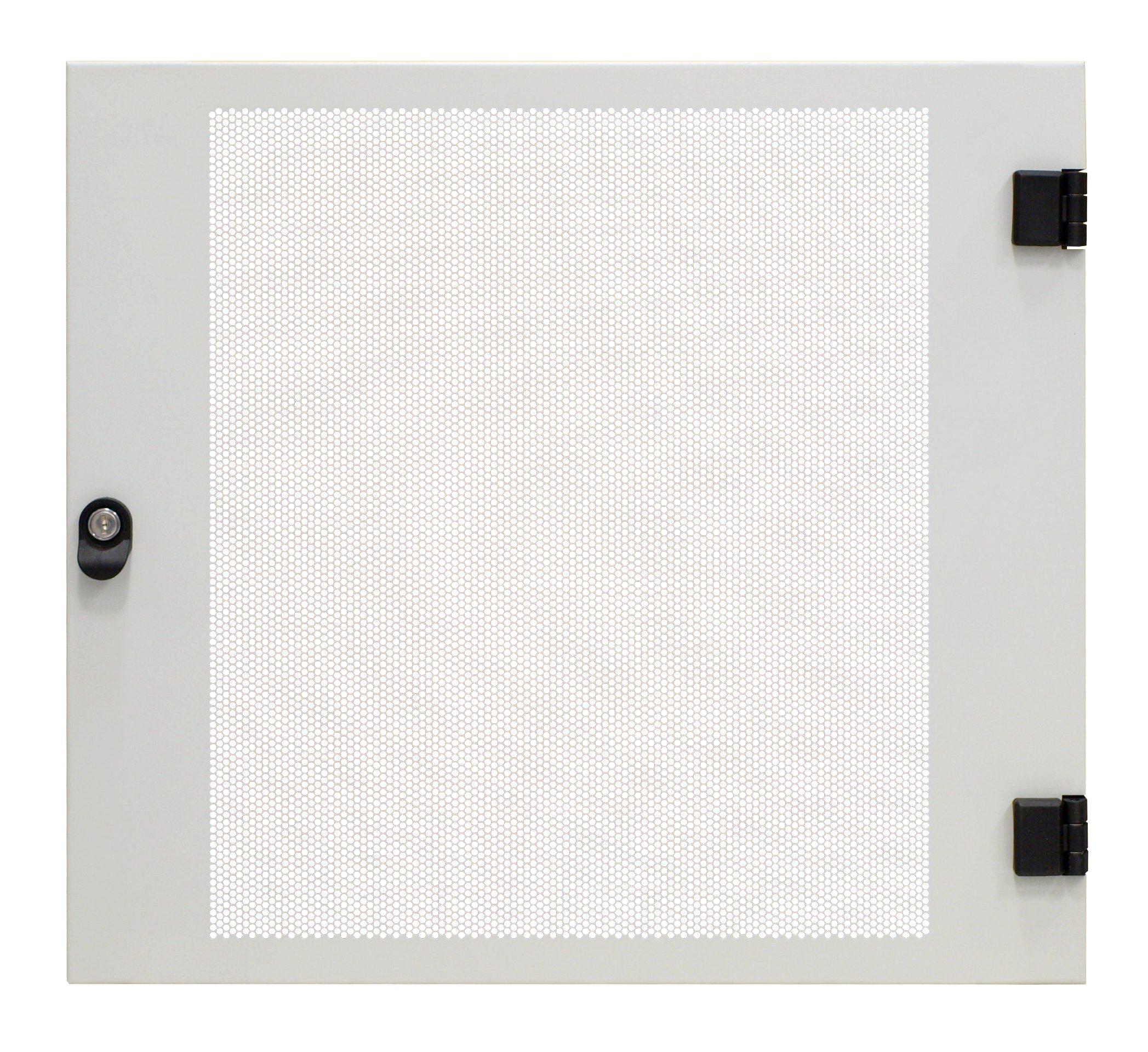 1 Stk Metall-Tür perforiert 80% f. DW-Schrank 12HE, B=600, RAL7035 DWRT1261--
