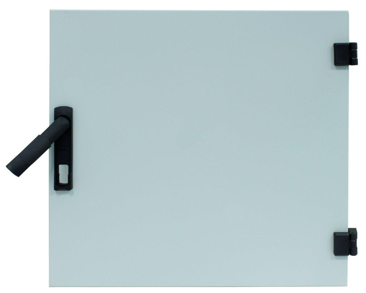 1 Stk Vollmetall-Tür f.DW-Schrank12HE,B600,RAL7035,HZ-Vorbereitung DWRT1266--