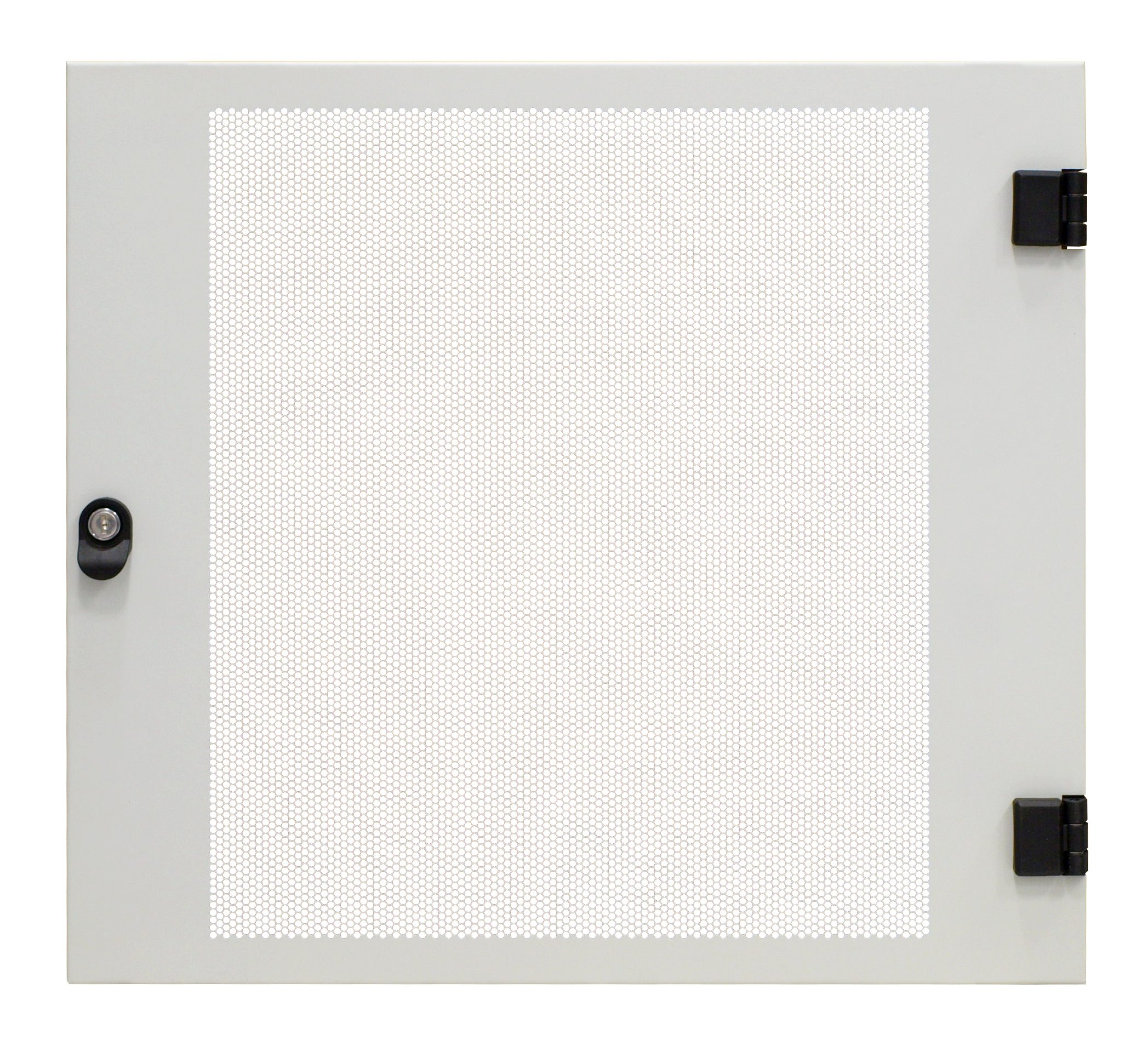 1 Stk Metall-Tür perforiert 80% f. DW-Schrank 18HE, B=600, RAL7035 DWRT1861--