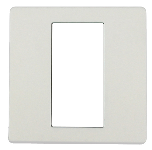 1 Stk ekey Dekorblende für Fingerscanner UP E, reinweiß 50x50mm EK101166--