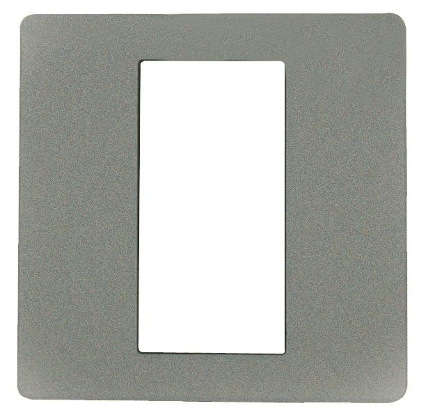 1 Stk ekey Dekorblende für Fingerscanner UP E, aluminium 50x50mm EK101167--