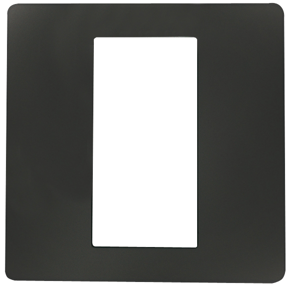 1 Stk ekey Dekorblende für Fingerscanner UP E, anthrazit 50x50mm EK101168--
