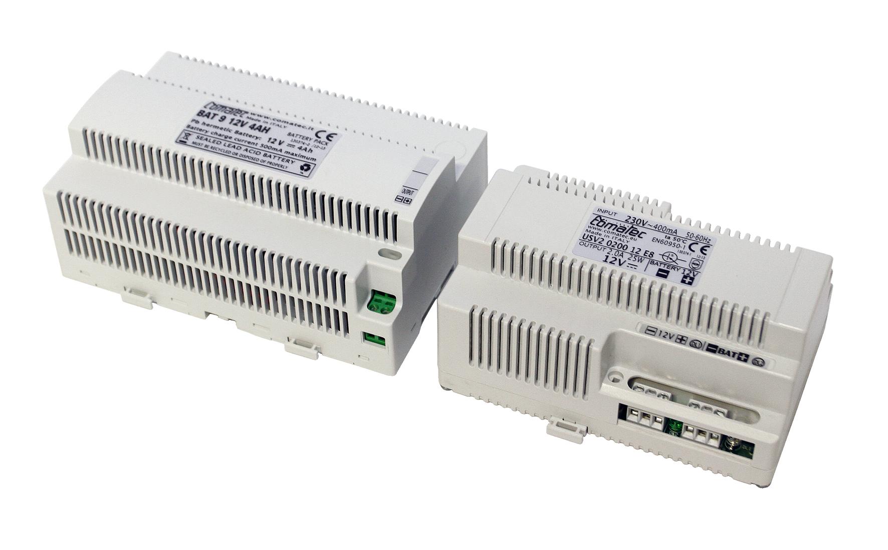 1 Stk ekey USV Reiheneinbau 230VAC/12VDC/4Ah EK101559--