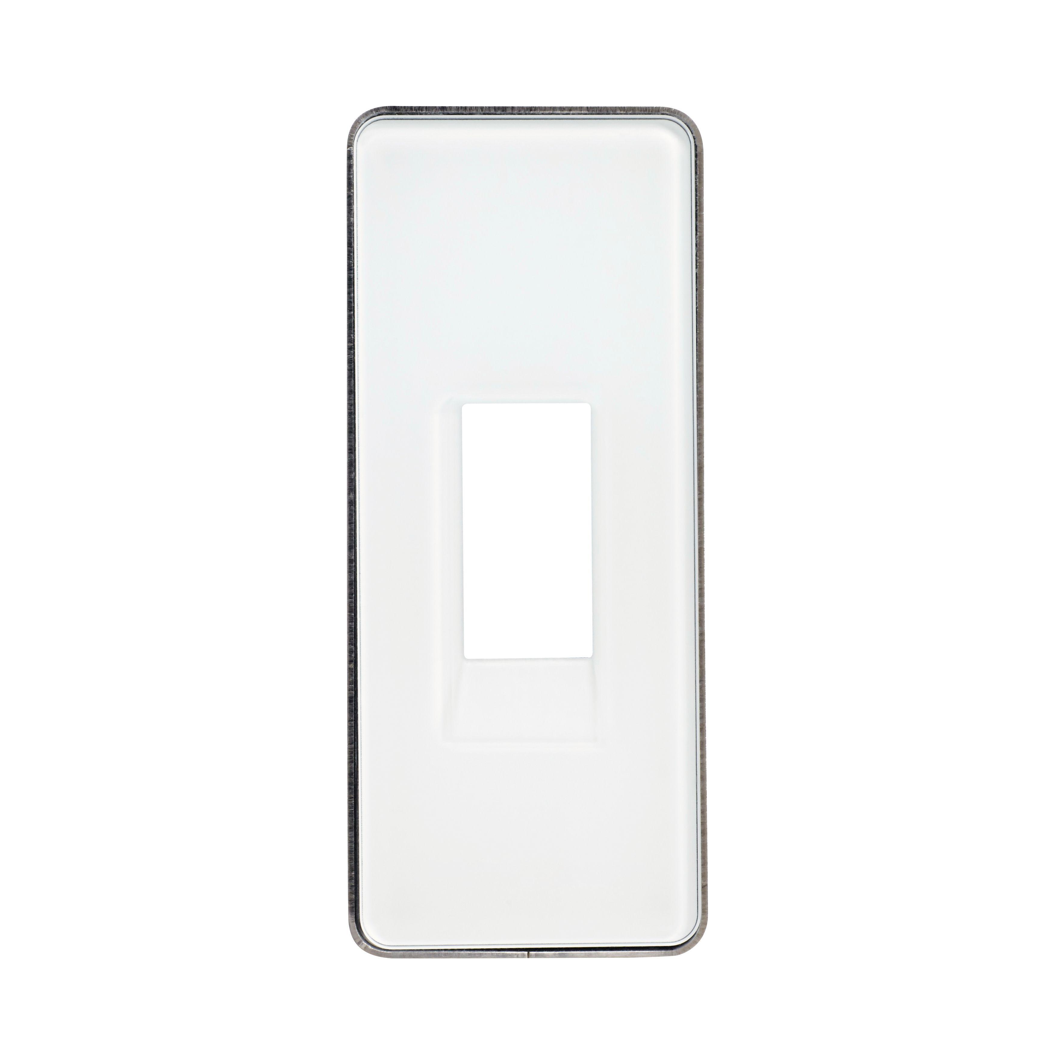 1 Stk ekey Montagerahmen für Fingerscanner Integra mit Glas weiß EK101717--