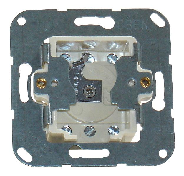 1 Stk Schlüsselschaltereinsatz 2-polig, Schaltung 4/2, 10A, 250VAC EL121900--