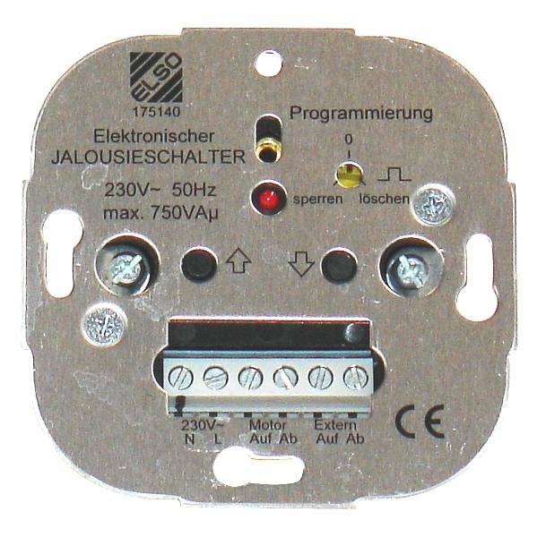 1 Stk Elektronischer Jalousieschalter EL175140--