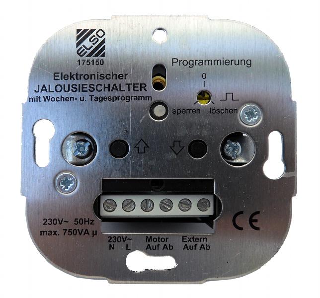 1 Stk Elektronischer Wochen-Rolladenschalter EL175150--