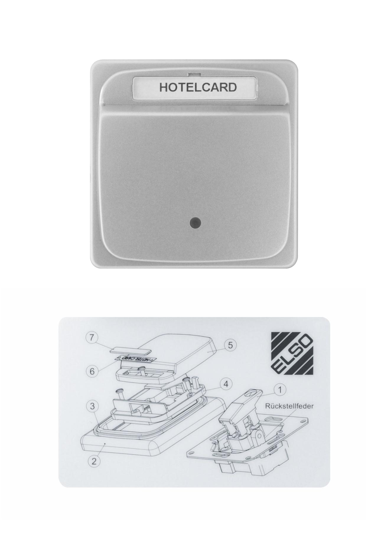 1 Stk Hotel-Card-Schalter, Alueffekt EL2030519-