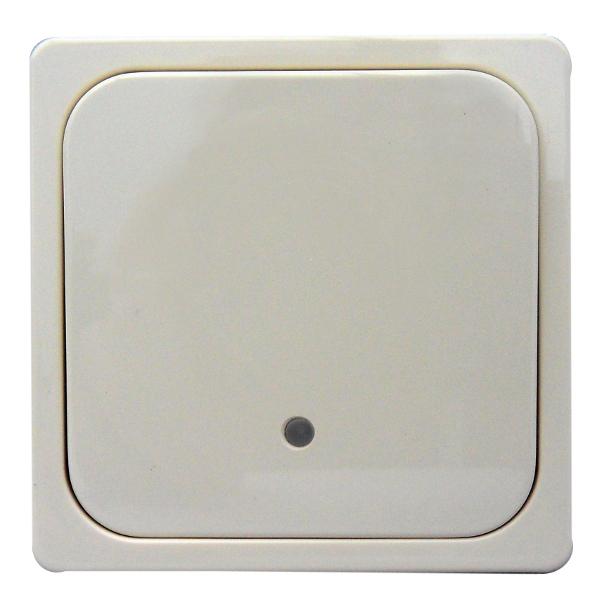 1 Stk System-Tastfläche 1-fach mit Leuchtmarkierung, perlweiß EL203340--