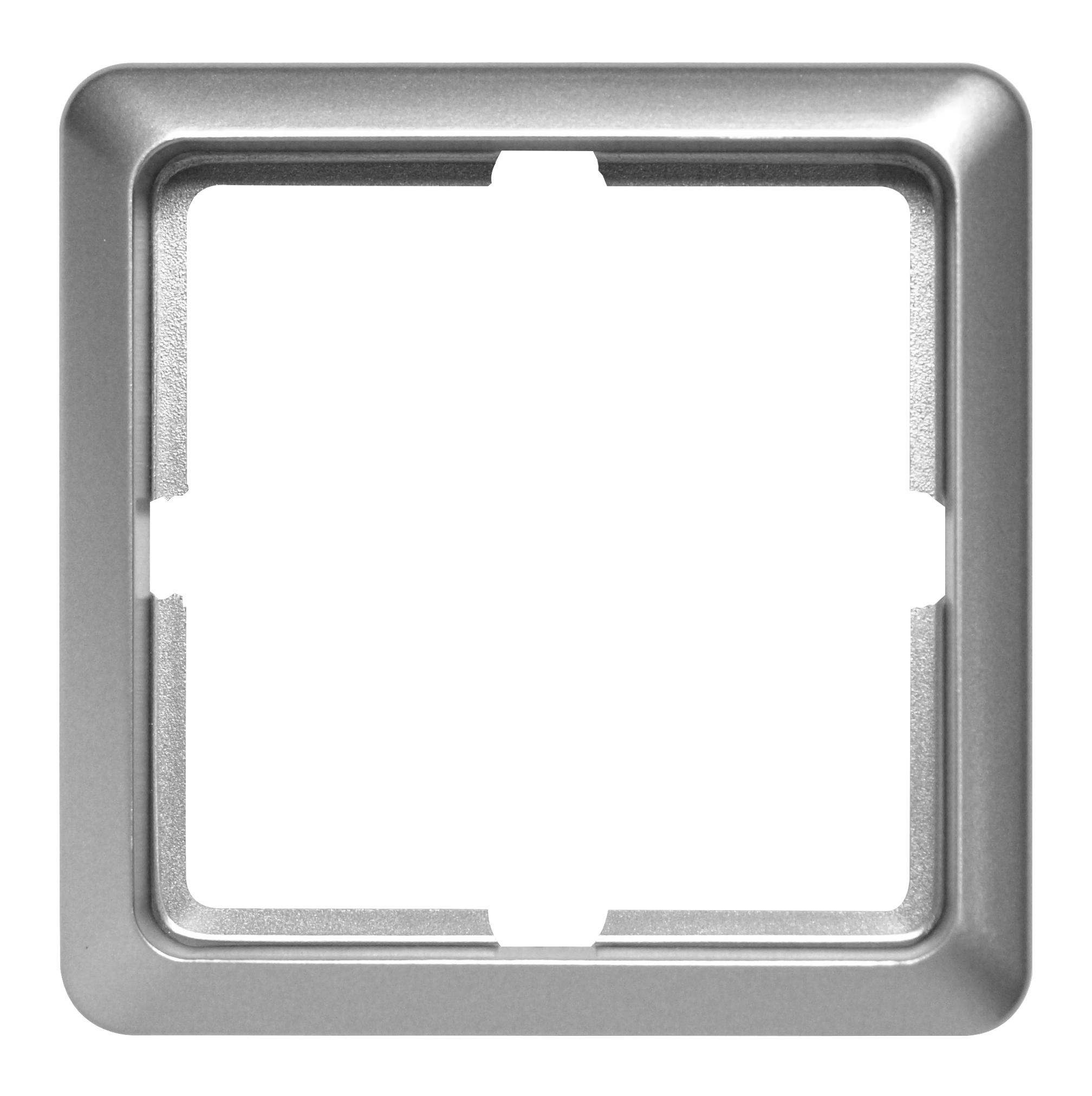 1 Stk Rahmen 1-fach, Edelstahleffekt Scala EL2041111-