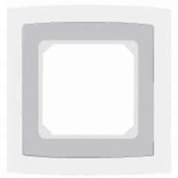1 Stk Glasrahmen 1-fach, perlweiß Riva EL204130--