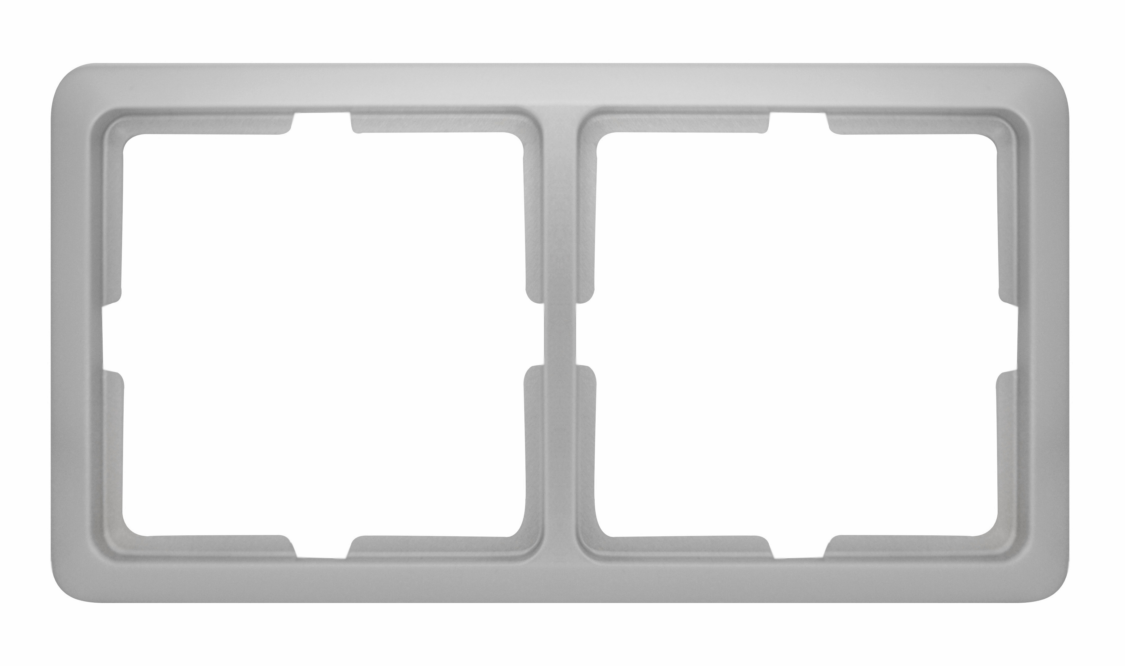 1 Stk Rahmen 2-fach, Edelstahleffekt Scala EL2042111-