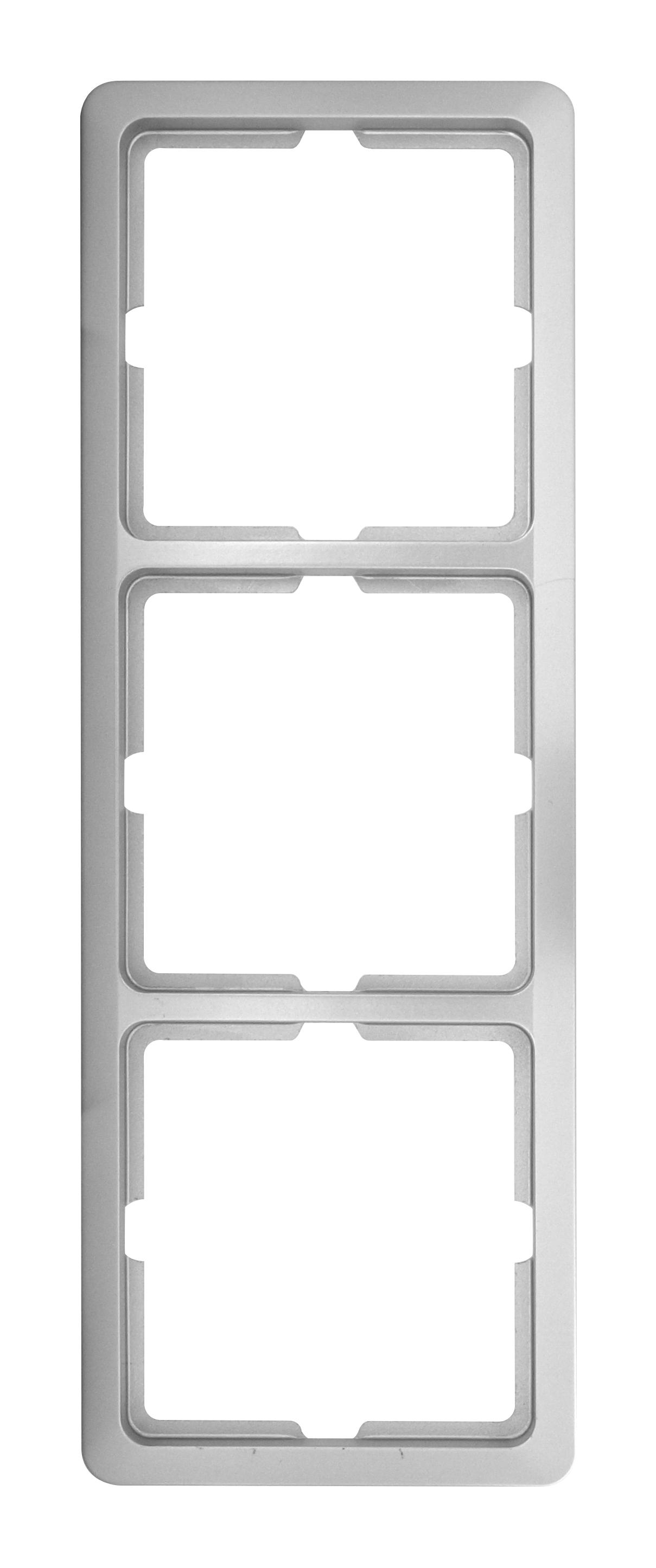 1 Stk Rahmen 3-fach, Edelstahleffekt Scala EL2043111-