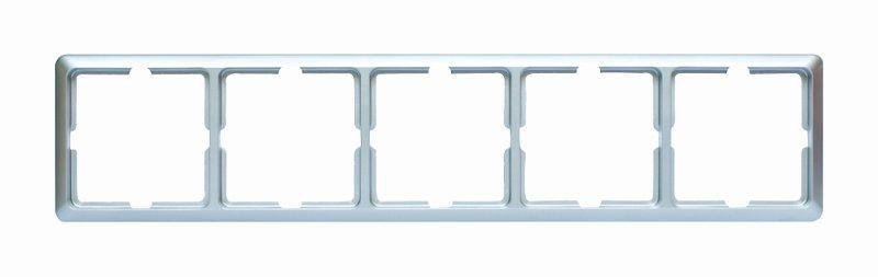 1 Stk Rahmen 5-fach, Edelstahleffekt Scala EL2045111-