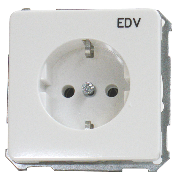1 Stk UP-Steckdoseneinsatz EDV, Steckklemmen, reinweiß EL205104--