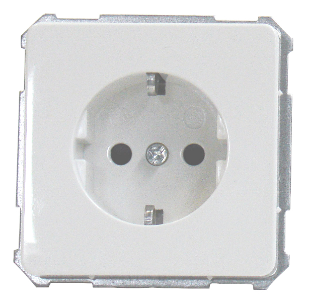 1 Stk UP-Steckdose mit erhöhtem Berührungsschutz, Steckklemmen, pw EL205200--