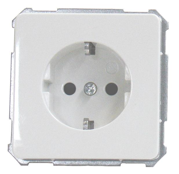 1 Stk UP-Steckdose mit erhöhtem Berührungsschutz, Steckklemmen, rw EL205204--