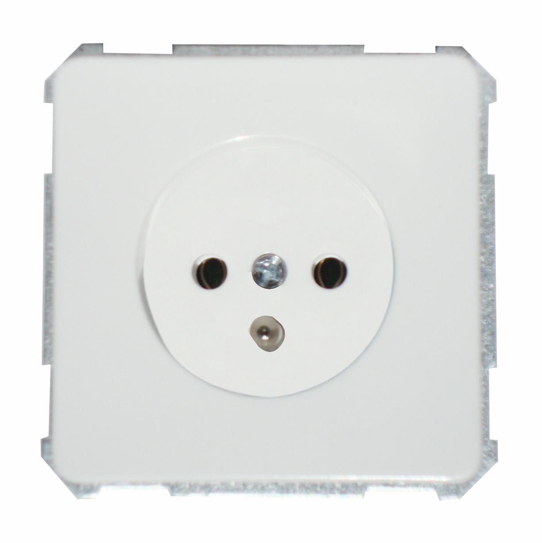 1 Stk UP-Steckdose mit Mittelschutzkontakt, Steckklemme, reinweiß EL205504--