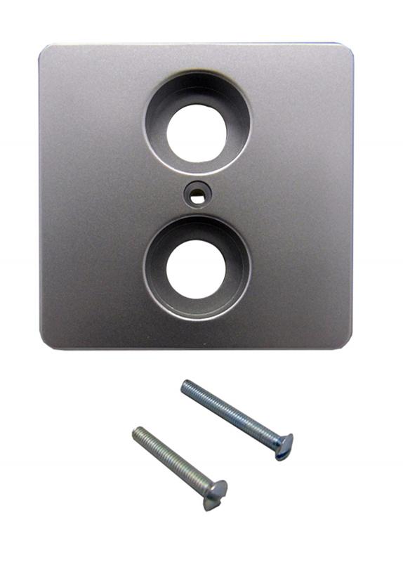 1 Stk Zentralplatte für Antennensteckdosen 2-Loch, Alueffekt EL2060219-
