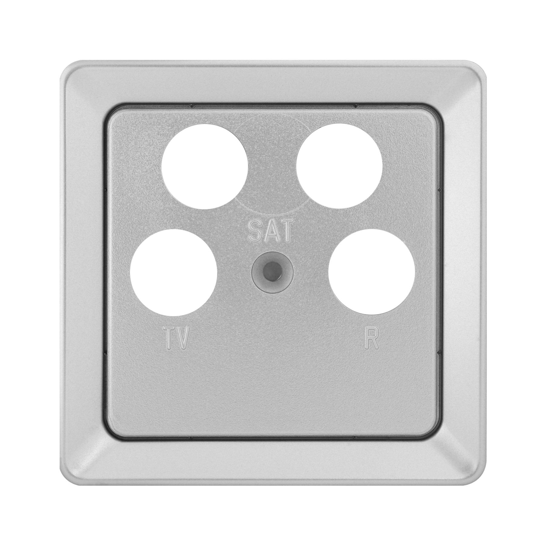 1 Stk Zentralplatte für Sat-Dosen 4-Loch Astro/Ankaro, Alueffekt EL2060519-