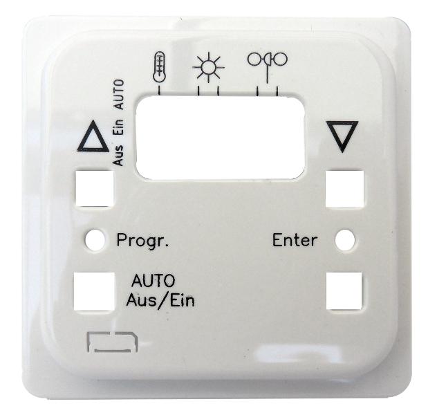 1 Stk Zentralplatte für Jalousie-Automatikschalter, reinweiß EL207194--