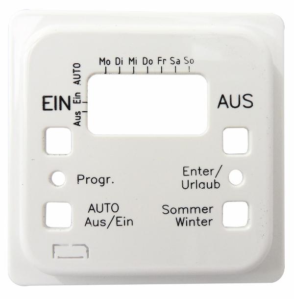 1 Stk Zentralplatte für Astro-Zeitschaltuhr, reinweiß EL207224--