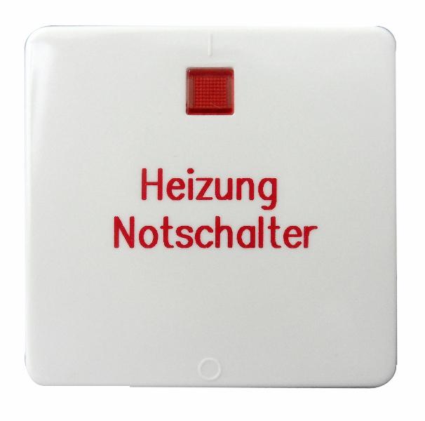 1 Stk Wippe für Heizung-Notschalter, 2-polig, reinweiß EL213224--