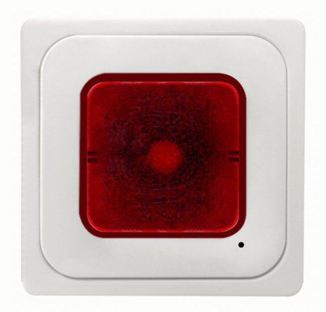 1 Stk Lichtsignal E10 mit Zentralplatte und roter Haupe, reinweiß EL216014--
