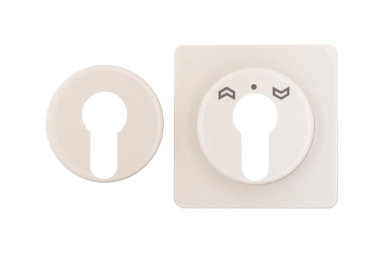 1 Stk Zentralplatte für Schlüsselschalter Fashion IP44, perlweiß EL223050--