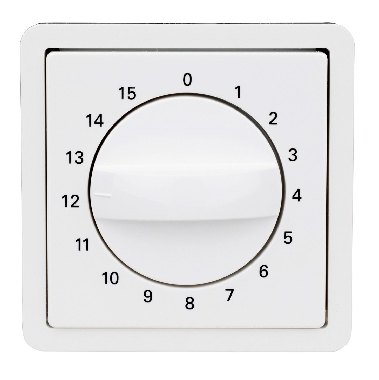 1 Stk Zentralplatte für Zeitschalter 15min, reinweiß EL223084--