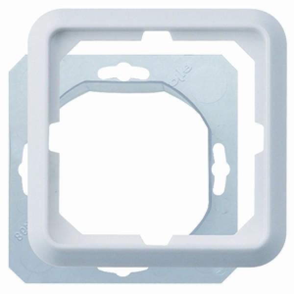 1 Stk Rahmen 1-fach IP44, reinweiß EL224144--