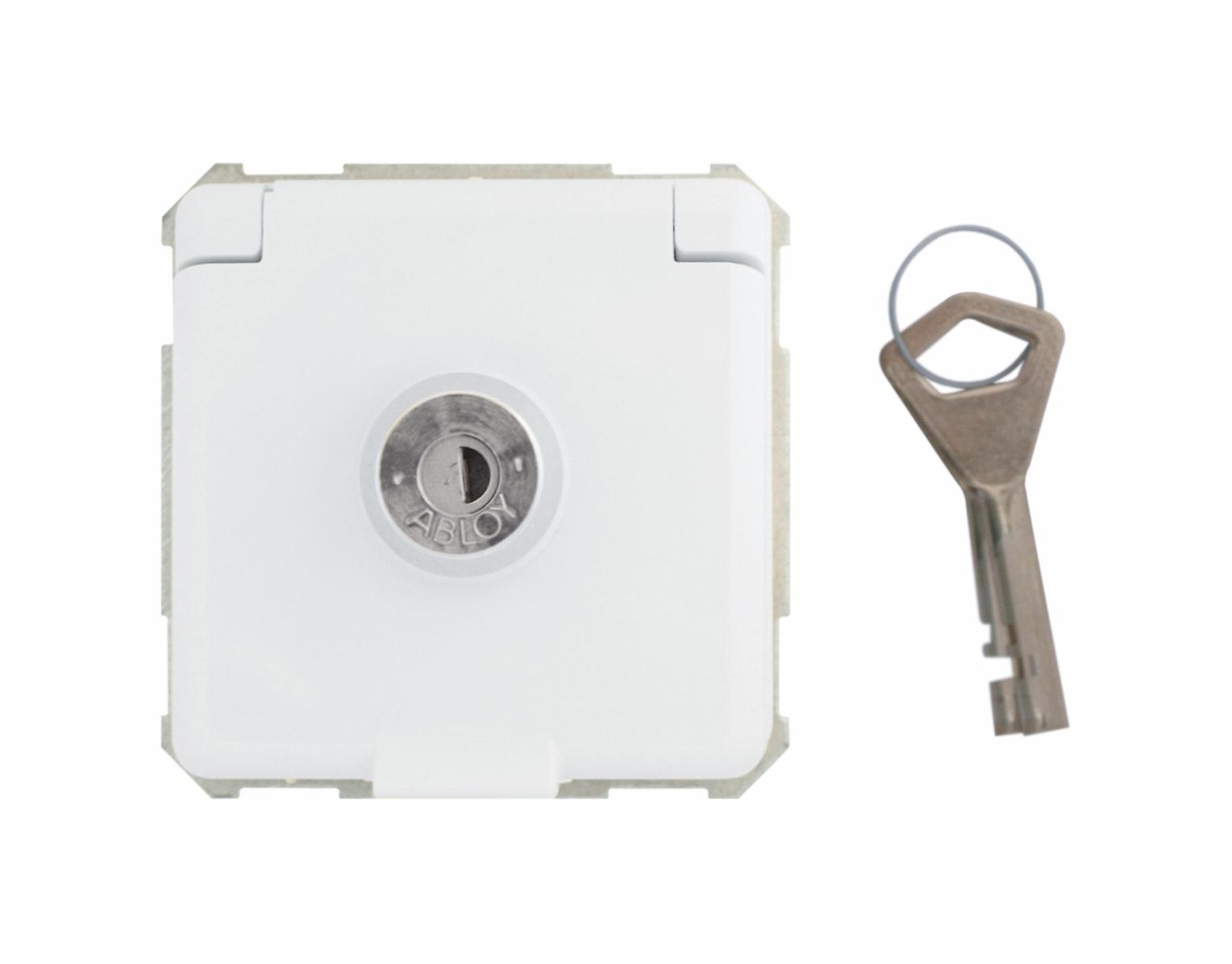1 Stk Steckdoseneinsatz abschließbar, verschiedene Schließungen pw EL225060--