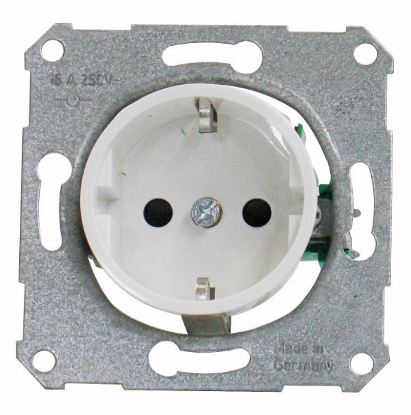 1 Stk UP-Steckdoseneinsatz für Zentralplatte mit Kinderschutz, rw EL225214--