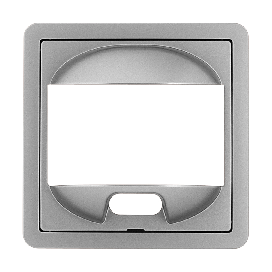 1 Stk Zentralplatte für PIR-Bewegungsmelder, F/S/R Edelstahleffekt EL2270811-