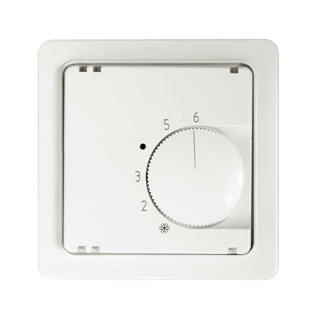 1 Stk Zentralplatte für Temperaturregler perlweiss F/S/R EL227100--