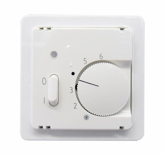 1 Stk Zentralplatte für Temperaturregler mit Ein/Aus, reinweiß EL227124--