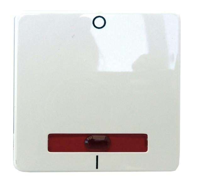 1 Stk Wippe für Kontroll-Ausschalter 2-polig beleuchtet, perlweiß EL233210--