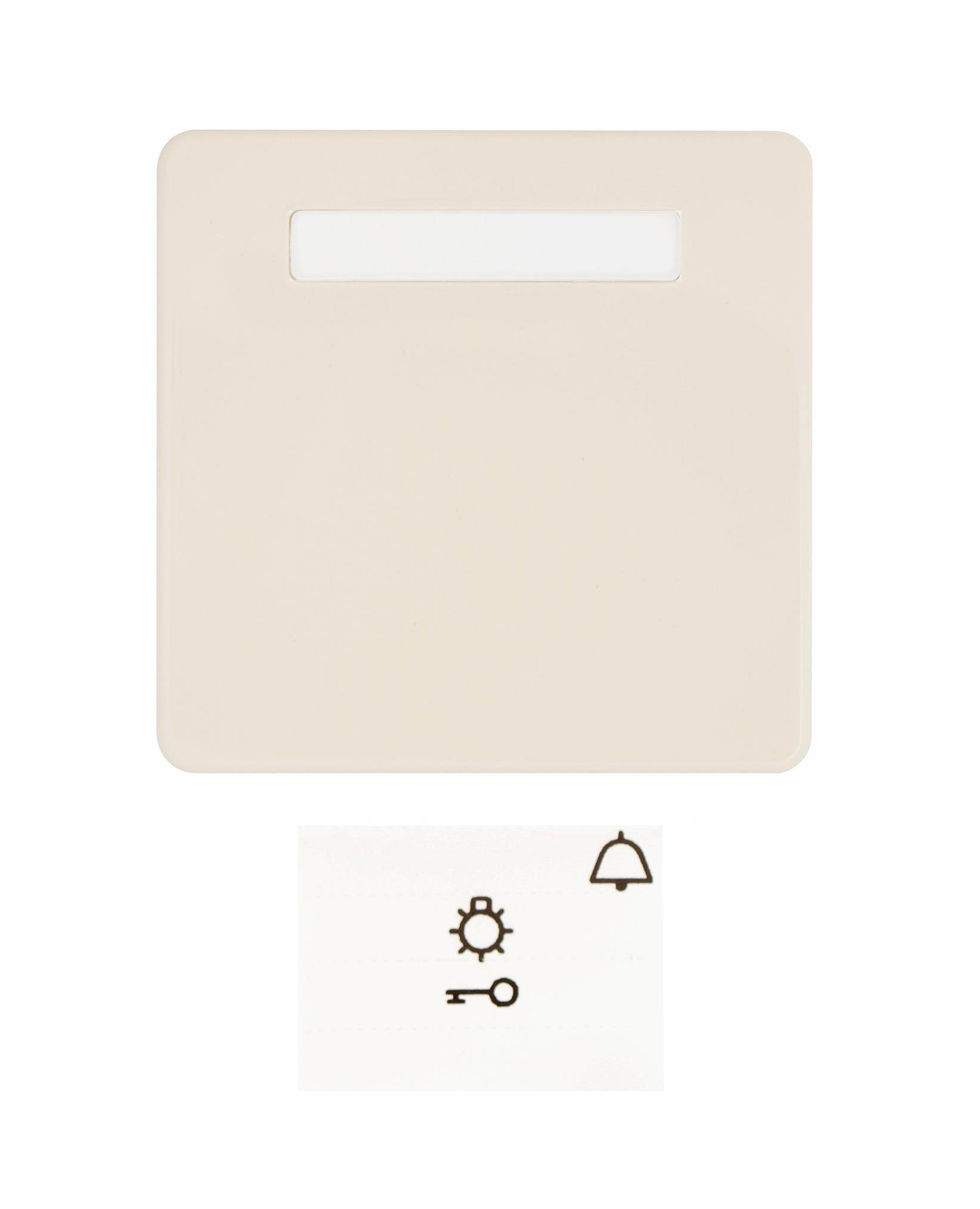 1 Stk Wippe mit Schriftfeld, beleuchtbar, perweiß, Riva EL233620--