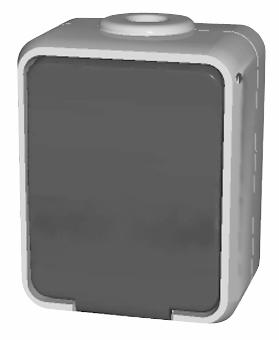 1 Stk AP IP44 Steckdose, Steckklemme, reinweiß, Aqua-Top EL445004--