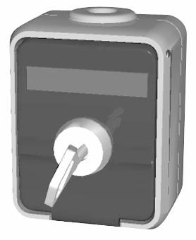 1 Stk AP IP44 Steckdose mit Schriftfeld, abschließbar, reinweiß EL455014--