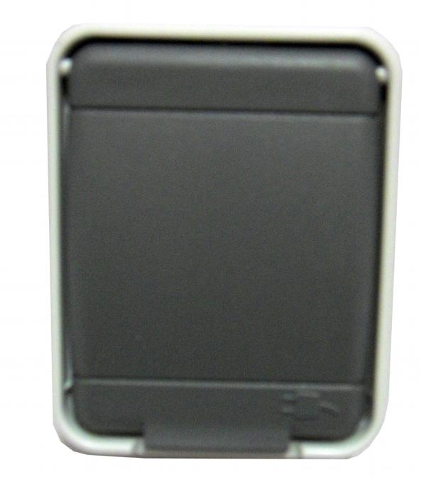 1 Stk AP IP44 Steckdose mit Mittelschutzkontakt, basaltgrau EL455509--
