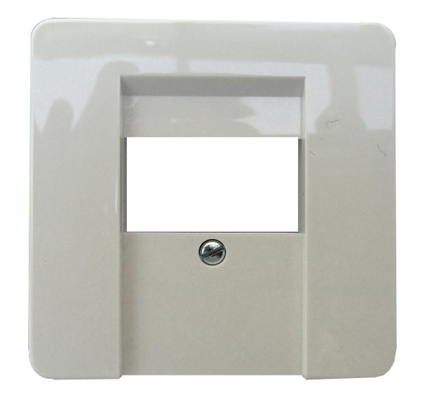 1 Stk Zentralpatte für TDO/TAE-Anschlussdose 3-fach perlweiß EL503600--