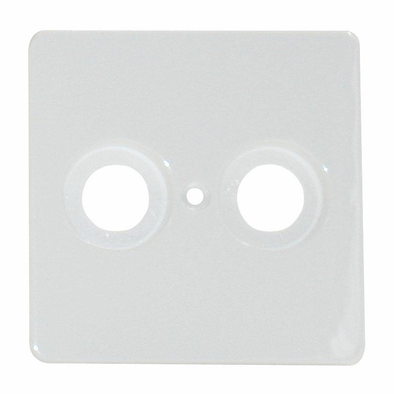 1 Stk Zentralplatte für Koaxialantennensteckdose perlweiß EL503610--