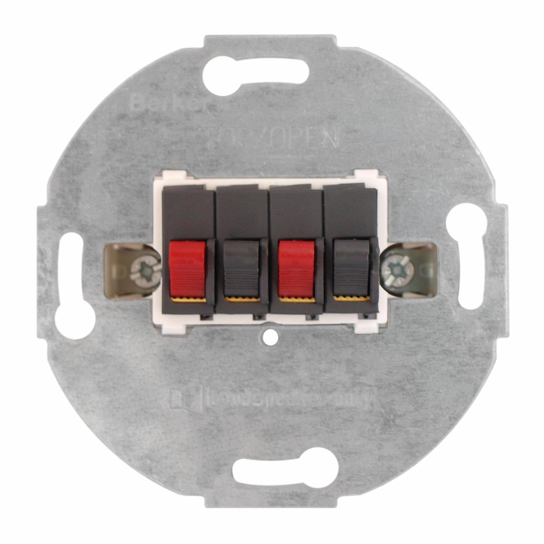 1 Stk UP-Einsatz Stereo-Lautsprecher-Anschlussdose EL662003--