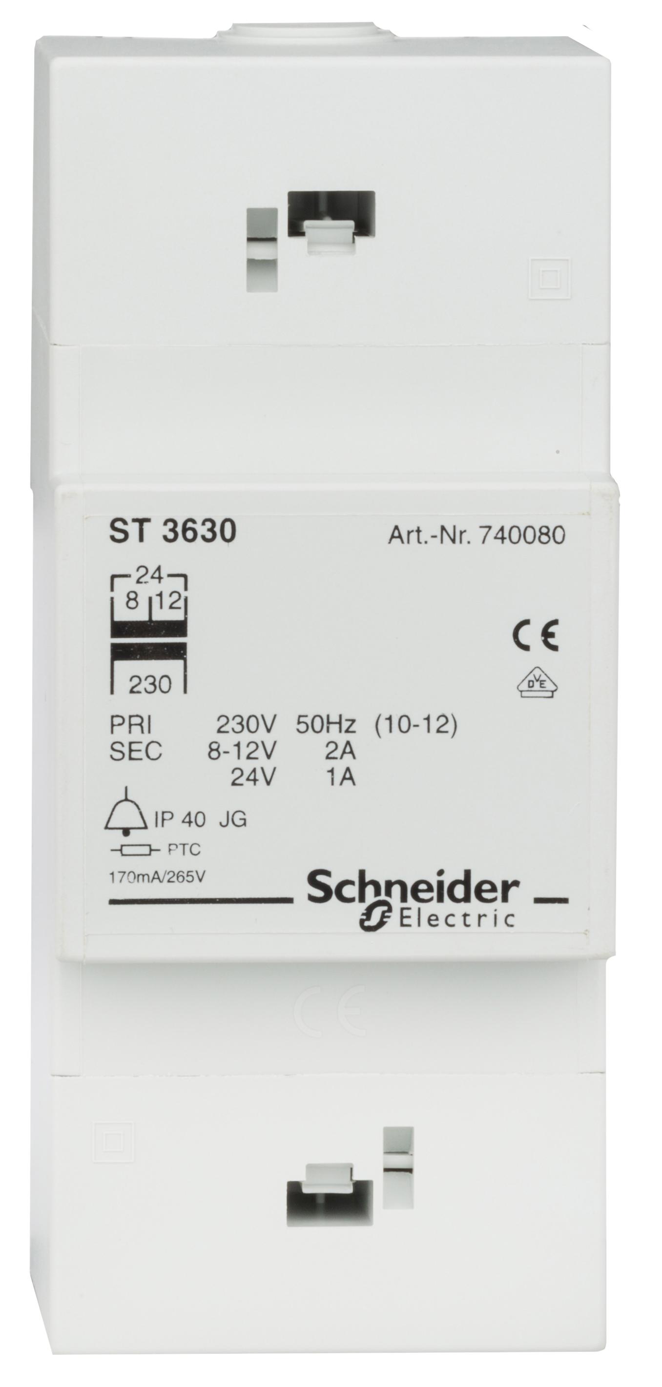 1 Stk Steuertrafo 230/24V AC, 1A, Anschluß von 4 Zimmern möglich EL740080--