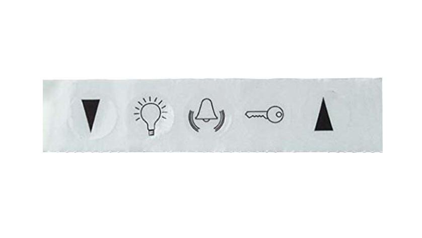 1 Stk Symbolaufkleber Licht/Klingel EL979060--