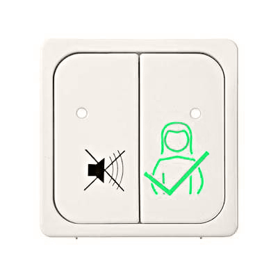 1 Stk Tastfläche 2-fach für Dienstzimmereinheit Sigma, perlweiß ELG740200-